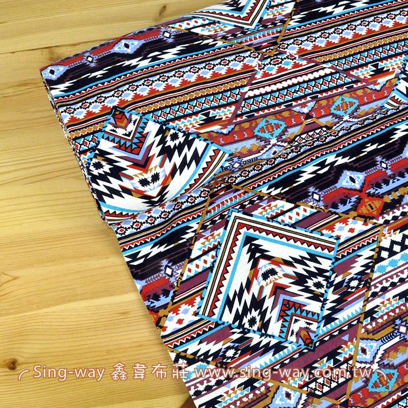 彩色民族風 手工藝DIy拼布布料 CA1290032