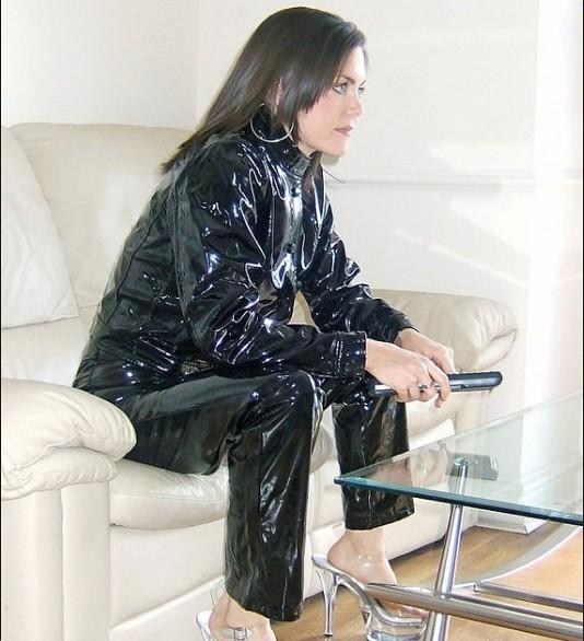 Lady In Vinyl Jacket And Pants Vinyl Beauties Flickr