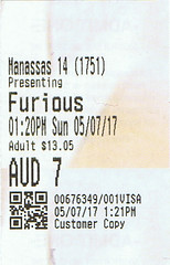 The Fate of the Furious ticketstub