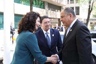 Luis Guillermo Solís Rivera, masoivoho manokana vaovao an'ny IY (Madrid, Espana, 8 Mey 2017)