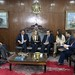 Encontro na presidência do Senado, com o presidente em exercício Cássio Cunha Lima