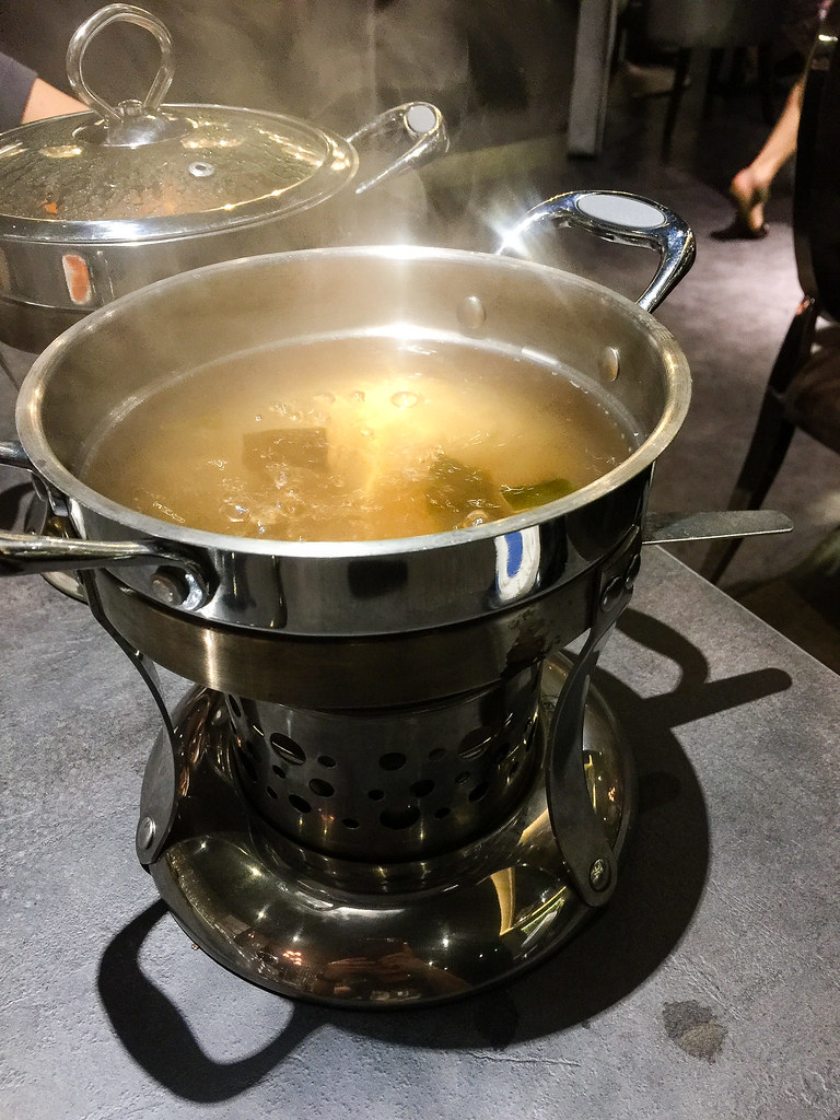 Boiling the soup for the Shabu-Shabu.