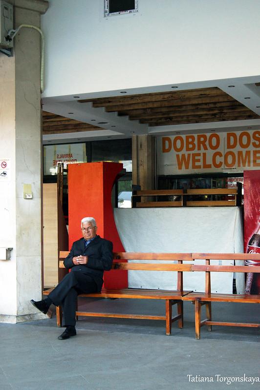 На автобусной станции в Будве