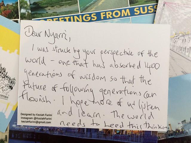 Collisions: Postcards to Nyarri