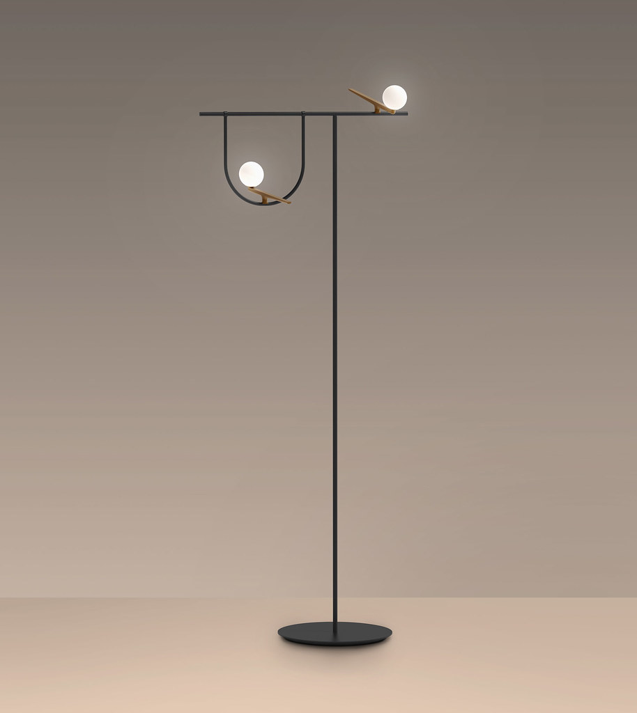 Lamp collection for Artemide that recalls the shapes of birds poised on wires and branches Sundeno_05