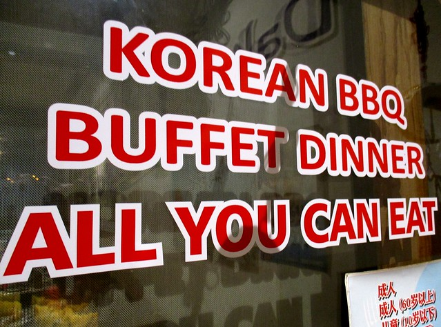 Eat-all-you-can barbecue buffet