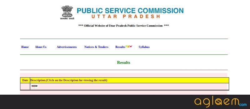 UPPSC Assistant Forest Conservator Exam Result 2017