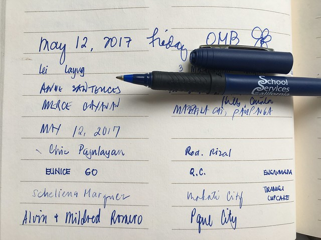 guest list May 12, 2017