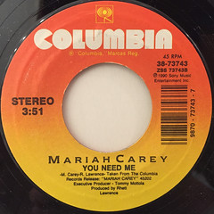 MARIAH CAREY:I DON'T WANNA CRY(LABEL SIDE-B)
