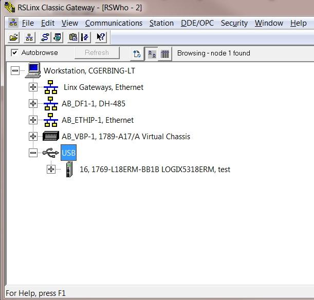USB RSLinx