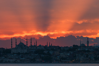 Sunrays over Sultan Ahmet (Blue Mosque) | by aksoykaan1