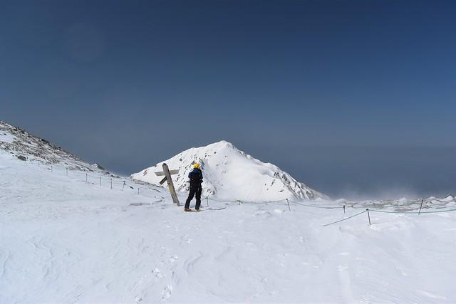 中央アルプス・雪の極楽平
