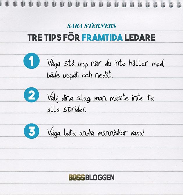 Tre Tips Sara Sterner