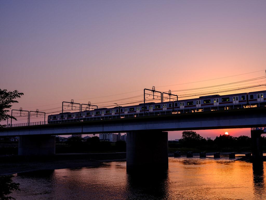 多摩川の夕暮れ_その3
