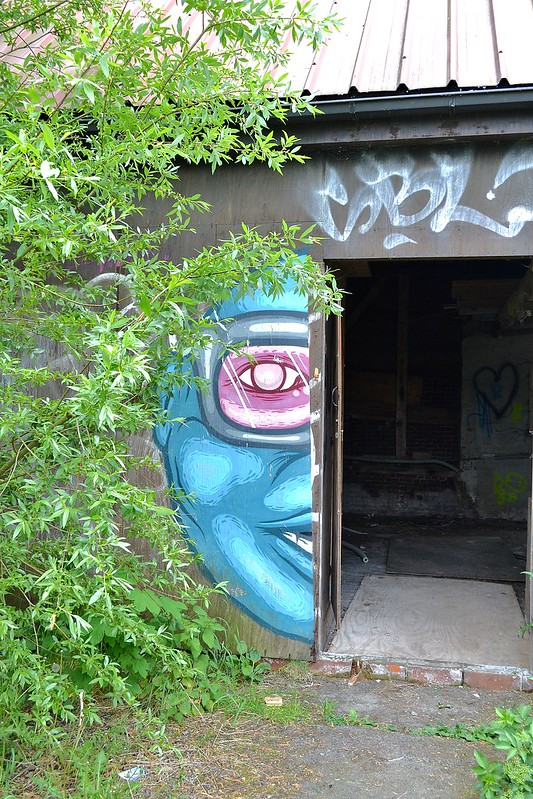 Graffiti ghost town in Belgium
