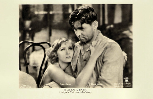 Greta Garbo and Clark Gable in Susan Lenox (1931)