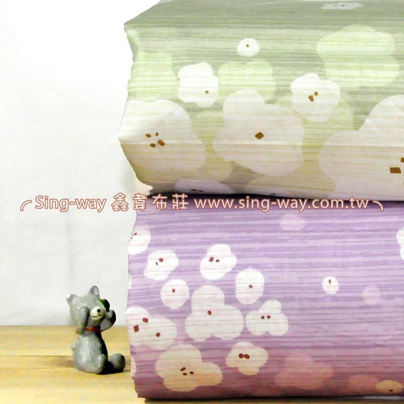 白木棉花 柔美花卉 精梳棉床品床單布料 CA490356