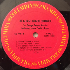 GEORGE BENSON:THE GEORGE BENSON COOKBOOK(LABEL SIDE-B)