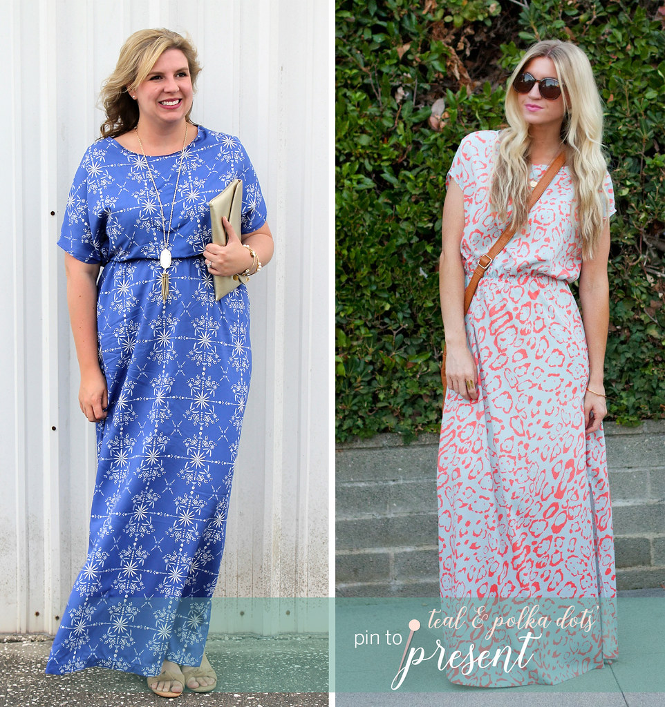 blue maxi dress DIY_pin to present