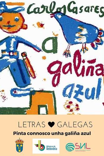 A galiña azul - pequeno homenaxe a Carlos Casares nas bibliotecas municipais de Redondela