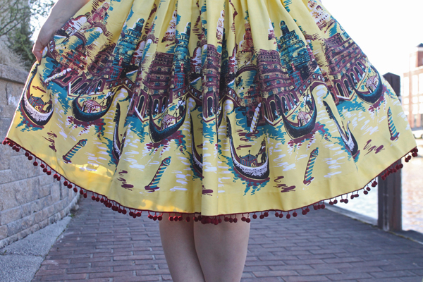 gondola print skirt