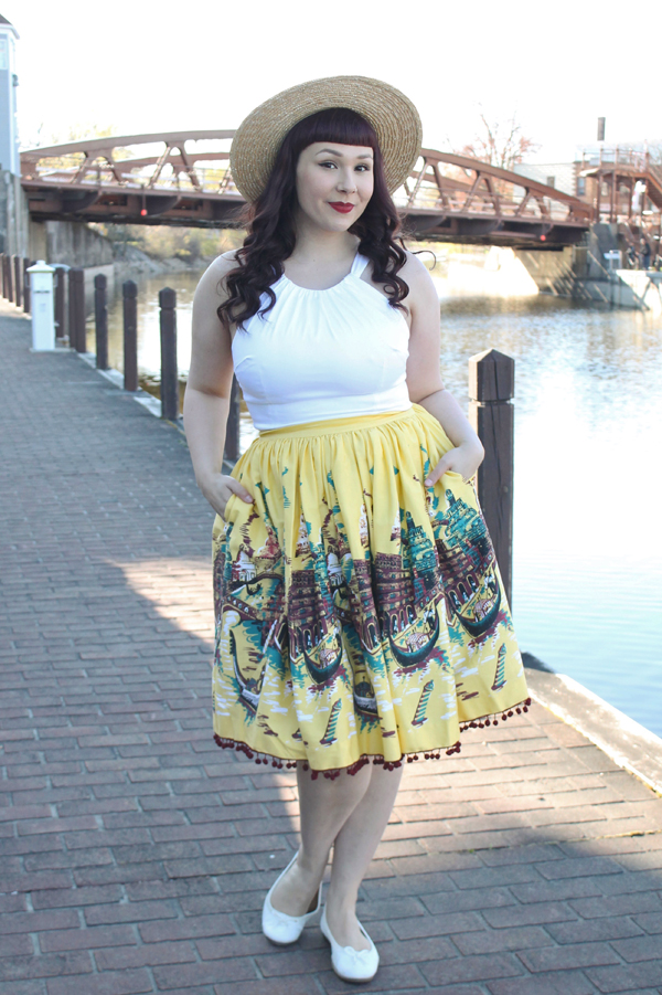 pinup girl clothing italian landscape skirt