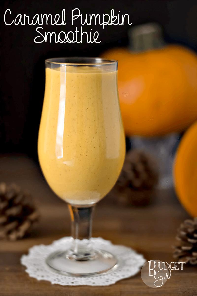 Caramel Pumpkin Smoothies