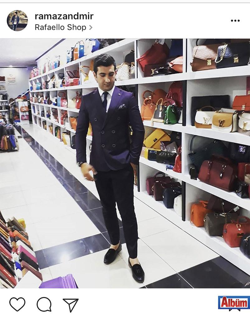 Raffaello Deri'nin sahibi Ramazan Demir, mağazasından paylaştığı bu fotoğraf ile beğeni topladı.