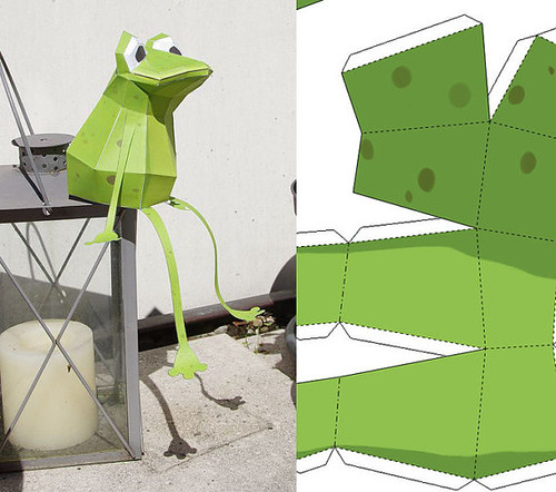 Low Poly Papercraft Frog 3D Puzzle by Paperwolf