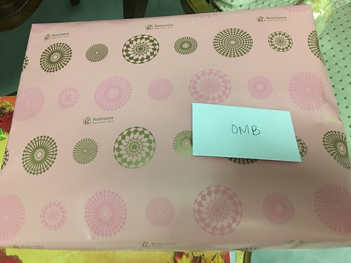 OMb gift opening, from Rachel