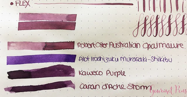 Ink Shot Review @RobertOsterInk Australian Opal Mauve @NoteMakerTweets 4