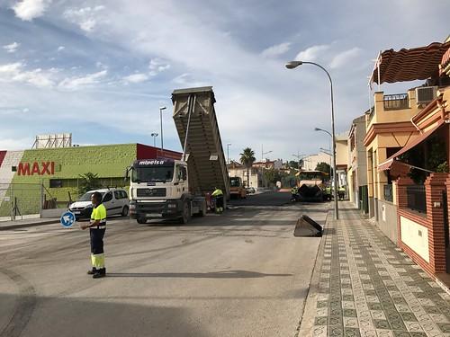 Asfaltado de calles en Martos