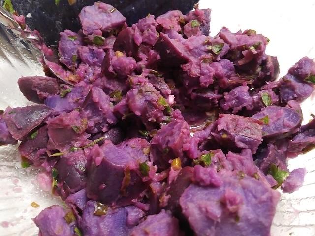 Purple Majesty Potato Salad