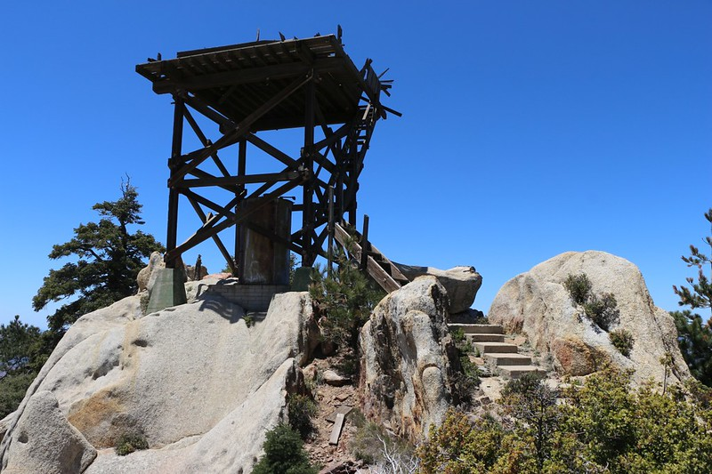 The derelict Fire Tower on the Hot Springs Mountain Summit