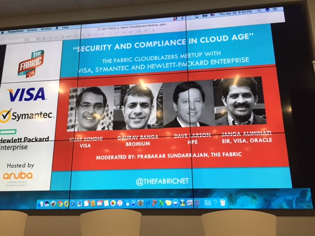 Security&Compliance in the Cloud, April 20, 2017