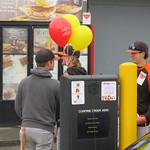 baseball players around drive through (May 3, 2017)