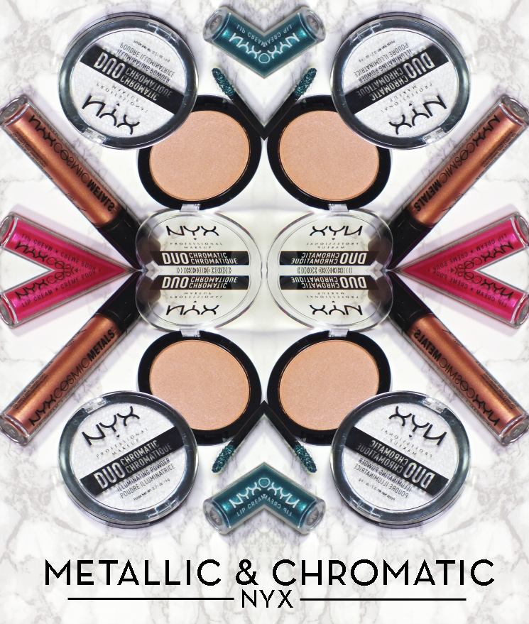 nyx metallic chromatic cosmic metals lip cream duo chromatic powder