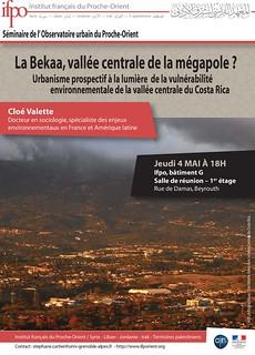 La Bekaa, vallée centrale de la mégapole ? Urbanisme prospectif à la lumière de la vulnérabilité environnementale de la vallée centrale du Costa Rica