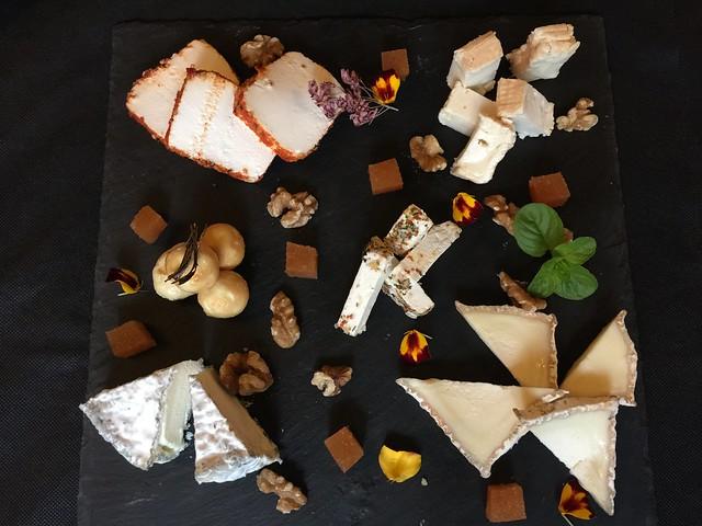Tabla de quesos de La Posada del Casar (Casar de Palomero, Las Hurdes)