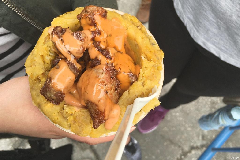 lavlilacs Smorgasburg Mofon•GO Fried Pork Mofongo