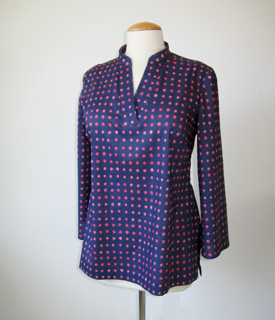dot tunic top on form front view