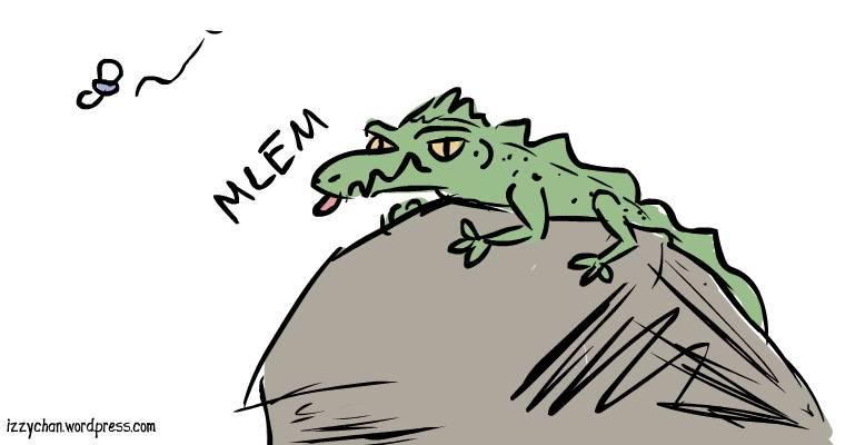 green lizard mlem