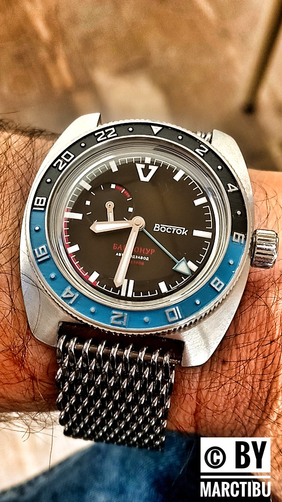 c8b275a9a657 Vostok Baikonur con bisel modificado - Relojes Rusos