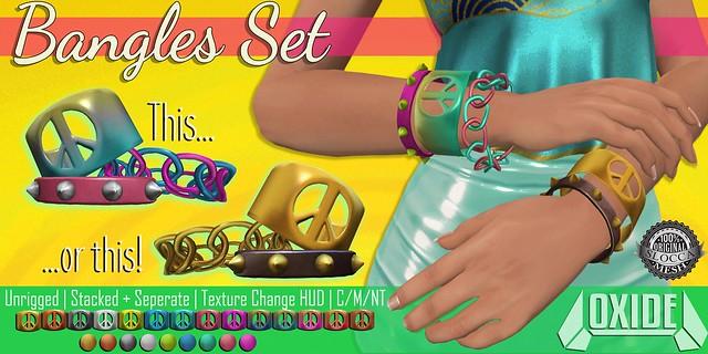 OXIDE Bangles Set - Rewind 80s!