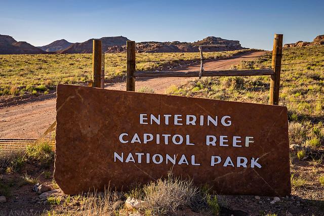 Entering Capitol Reef National Park
