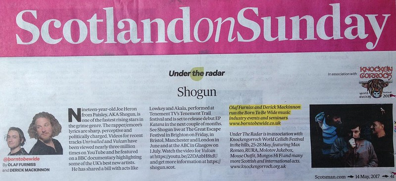 Scotland On Sunday, 14 May 2017, Shogun
