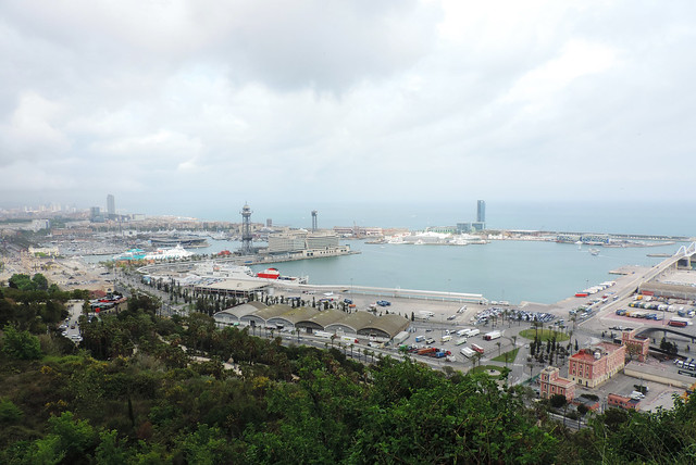 Barcelona views: View from Montjuic Hill, Barcelona, Spain
