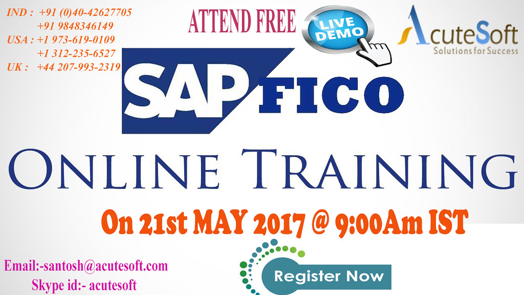 FREE LIVE DEMO ON SAP FICO | We are Conducting free live dem… | Flickr