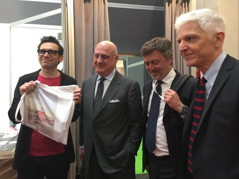 Nicola Lagioia, Federico Motta et Massimo Bray