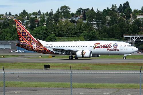 Boeing 737 MAX 8 Batik Air Malaysia 9M-LRD LN6034